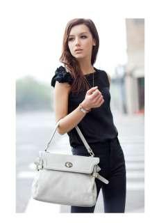 Womens Genuine Leather Zipper Handbag Messenger BAG Tote Shoulder