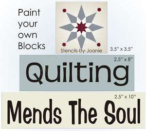 STENCIL Quilting Mends Soul Country Primitive Star sign