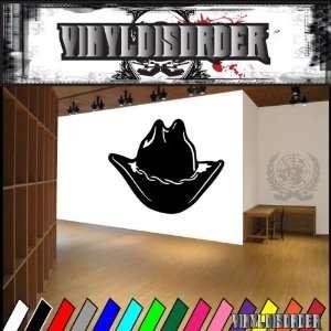 Western Cowboy Hat NS007 Vinyl Decal Wall Art Sticker