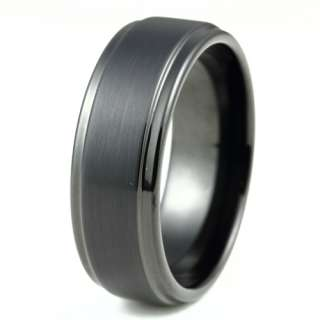 9mm Black New Mens Tungsten Promise Ring Wedding Band