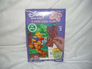 WINNIE POOH STICKER PUZZLE BOOK #2 MAGNETS TRAVEL NEW