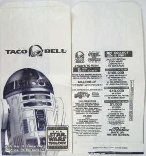 STAR WARS Taco Bell Kids Meal Premium Toy Set RARE 1996