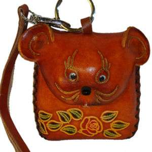 Genuine Leather Coin/Change Purse, Wallet (Brown Rat)