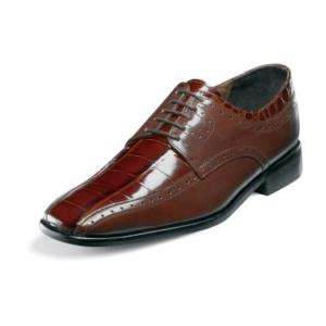 Stacy Adams MAZARA Mens Cognac Leather Dress Shoe 24638 221