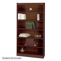 Safco Bookcase 1505 Square Edge 6 Shelves Wood Veneer Bookcases 1505