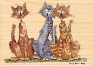 Kitty Chorus Stamps Happen 90157 Rubber Stamp Country Cats