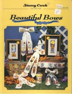 Creek Beautiful Bows holiday cross stitch book copyright 1997