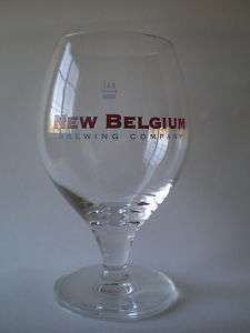 New Belgium Brewing Company Tulip Stemmed Beer Glass