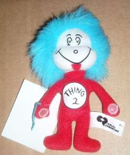Dr. Seuss Thing 2 Stuffed Plush mini sample Rare