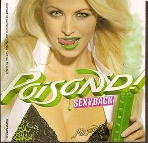 POISON   Sexyback (CD 2007) Bret Michaels 1Trk Promo