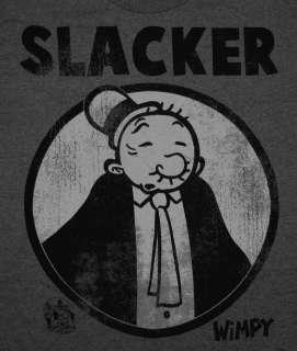 Popeye Slacker Wimpy Classic Vintage Style Cartoon T Shirt Tee