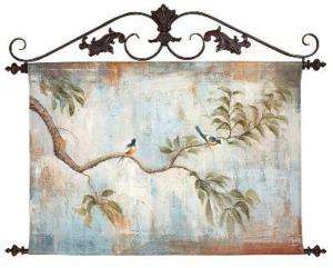 Handpainted Canvas Art Bird Songbird Scene Tree Branch