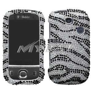 HUAWEI U7519 (Tap), Black Zebra Skin Diamante Protector