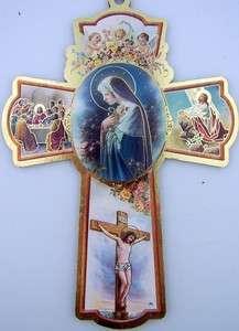 Sorrowful Mother OF Jesus Christ Catholic Wood Crucifix Wall Cross