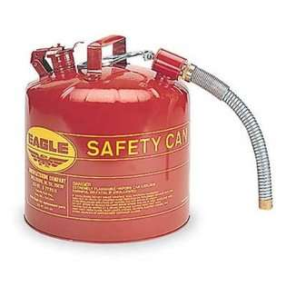 Eagle U2 51 S Type II Gas Safety Can 5 Gallon Metal Red With Flex