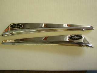 1963 63 Ford Galaxie 500 XL Front Fender Ornaments Trim