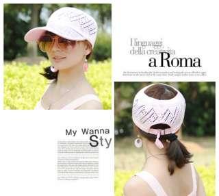 Women Lady Adjustable Fashion Mesh Sun Visor Hat Cap