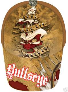 Bullseye Only God Can Judge Me Tattoo Trucker Cap/Hat