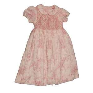 Girl Size 6 Large, White and Pink Cotton Frock Dress Outfit: Baby