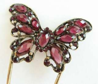 SWAROVSKI CRYSTAL BRONZE BUTTERFLY HAIR STICK PIN PICK 530 ACCESSORY
