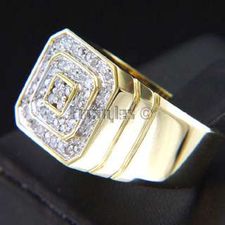 New Natural Diamonds 14k Solid Gold Mens Ring r00055