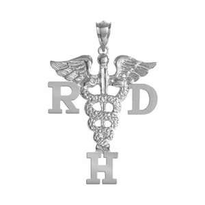 Dental Hygienist RDH Pendant in Silver Jewelry & Gifts: Jewelry