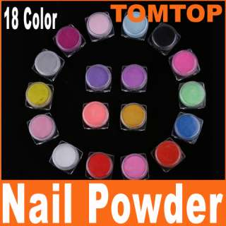 18 Color Nail Art Acrylic Powder for nail Manicure Tips