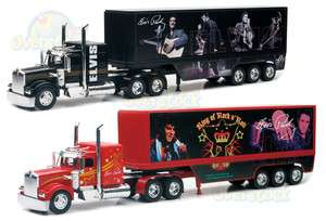 COMBO OF 2 ELVIS PRESLEY 1/32 KENWORTH W900 SEMI TRUCK TRAILER DEICAST