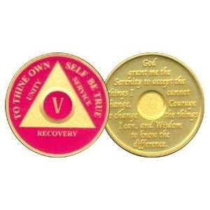 5 Year 24K Gold Plated AA Birthday   Anniversary Recovery