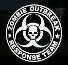 Zombie Apocalypse outbreak response vehicle sticker HAZARD