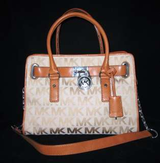 MICHAEL KORS Hamilton Bag Satchel Purse Luggage New