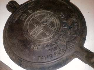 Griswold American No. 8 Cast Iron Waffle Iron Patent Date Dec. 1 1908