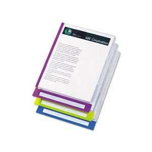 PileSmart Quickview Clear File Jackets w/Fashion ColorTabs