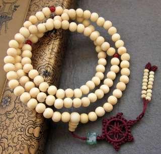 108 Sandalwood Bead Tibet Buddhist Prayer Mala Necklace