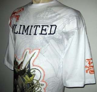 NEW 3XB ECKO MENS T SHIRT White Embroidered Tee 3X 3XL