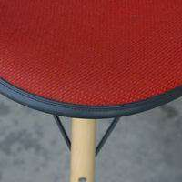 Eames Fiberglass Bar Stool Wooden Dowel Base