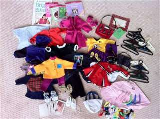 HUGE LOT* Authentic AMERICAN GIRL CLOTHES books shoes fits 18 wow