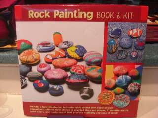 ROCK PAINTING CRAFT KIT Kids Adults Paint Rocks,Idea Book Everything