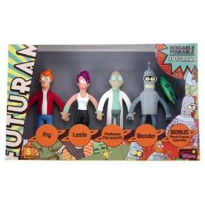 Boxed Set of Bendy Figures   Fry Leela Bender Farnsworth Toys & Games