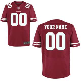 Mens Nike San Francisco 49ers Customized Elite Team Color Jersey (40