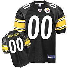 Reebok Pittsburgh Steelers Customized Authentic Team Color Jersey (48