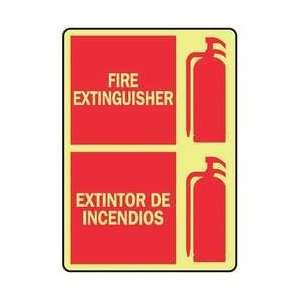 Safety Sign,fire Extinguisher Bilingual   ACCUFORM SIGNS