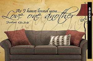 AS I HAVE LOVED YOU LOVE ONE ANOTHER   Word Decal quote sticker