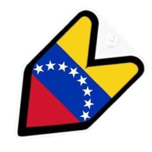 JDM Venezuela Venezuelan Flag Car Decal Badge Automotive