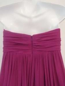 SILK chiffon STRAPLESS full length gown DRESS $890 nwt 12