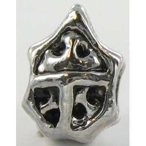 Silver Plated Sea Urchin Charm Bead for Pandora/Troll/Cha Jewelry