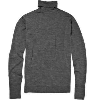 Knitwear  Rollnecks  Richards Merino Wool Roll Neck Sweater