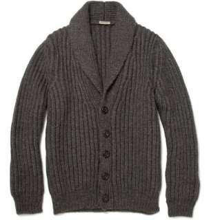 Clothing  Knitwear  Cardigans  Heavy Knit Wool Blend Cardigan