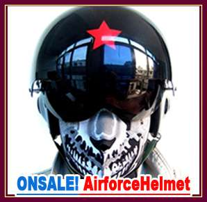 Chinese Air Force Military Jet Pilot Open Face Helmet Black