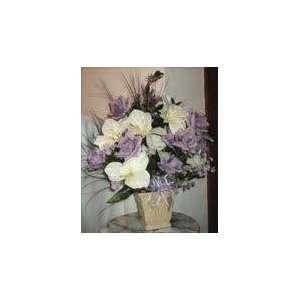 Beautiful Lavender Rose Floral Arrangement  Home & Kitchen